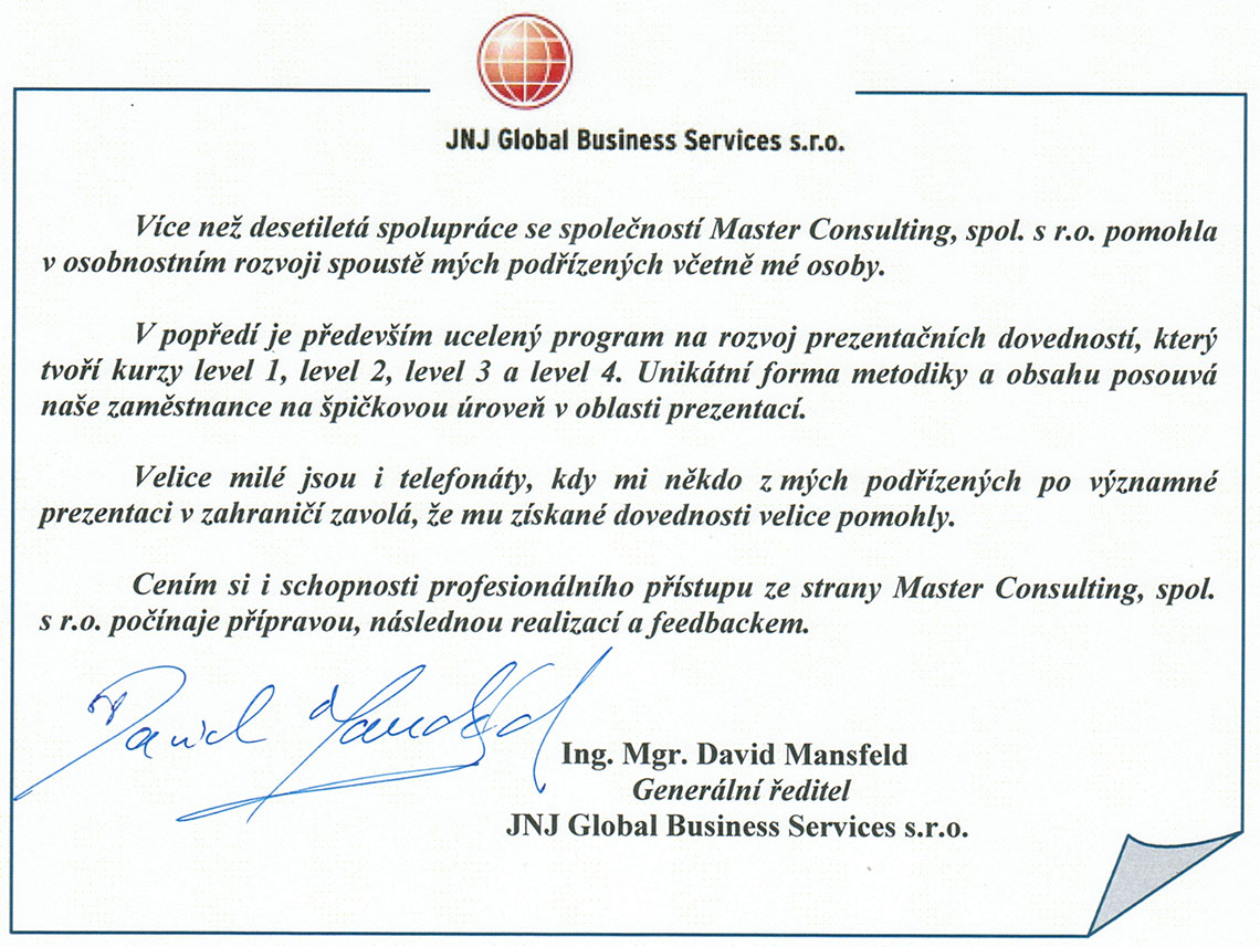 JNJ Global Business Services s.r.o.
